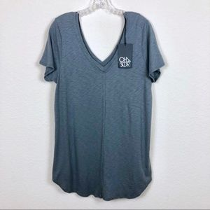 NWT Chaser dark gray double V tee! Super soft and